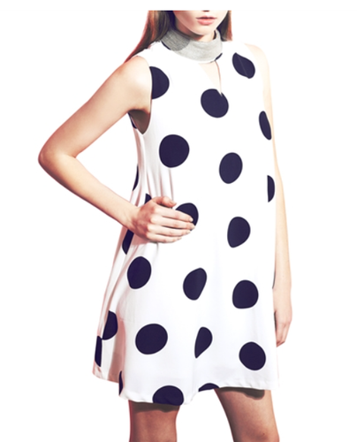 Lila Polka Dot Dress