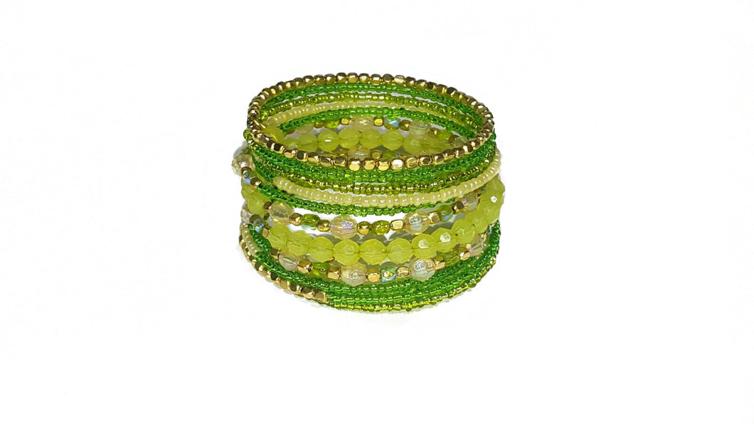 Lime Positano Beaded Bracelet