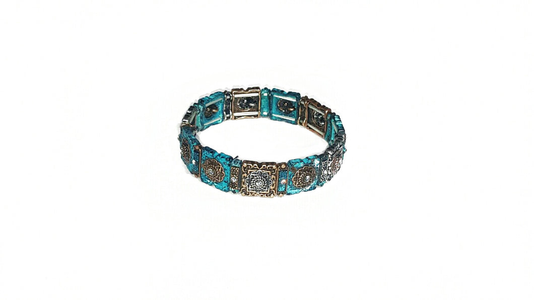 Patina Bracelet Stretch Stones