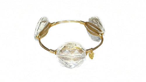 Acrylic + Gold Bangle