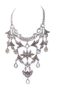 Teardrop Flora Bib Necklace