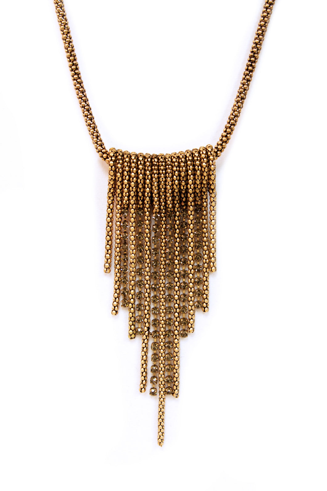 Gold Layered Tassel Necklace