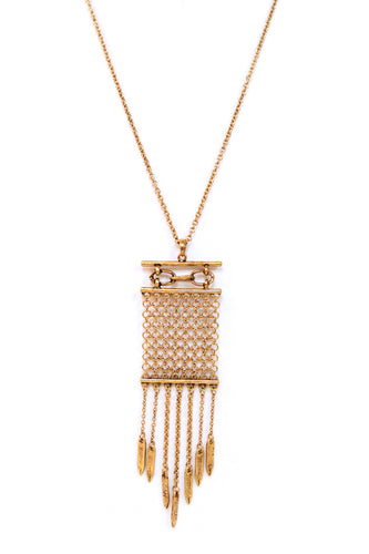 Gold Dangle Long Necklace