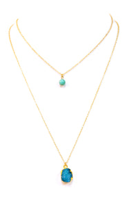 Aqua Aura Layered Necklace
