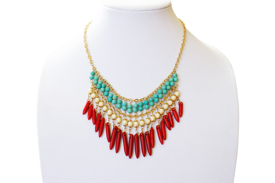 Tribal Fire Burst Necklace