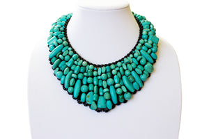 Handmade Turquoise Statement Necklace