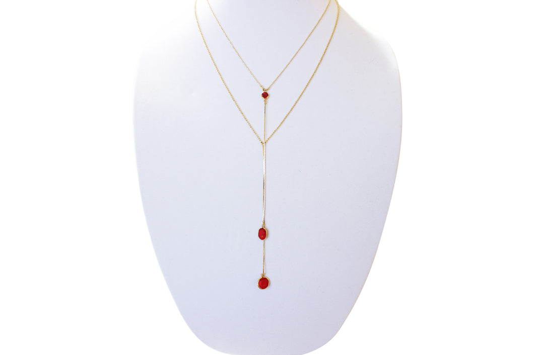 Monet Marble Double Layered Necklace
