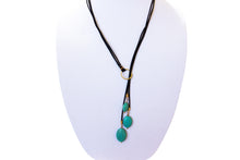 Tres Boho Aqua Layered Necklace