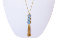 Long Crystal Tassel Pendant