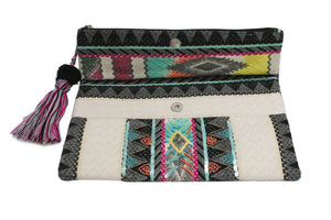 Multicolored Beaded Clutch