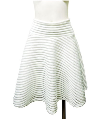 Embossed Striped Flare Skirt