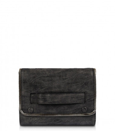 River Distressed Clutch - Black