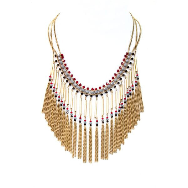 Eclectic Tassel Necklace