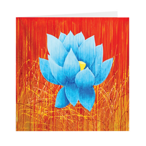 Blue Lotus Folded Cards 10 Pack