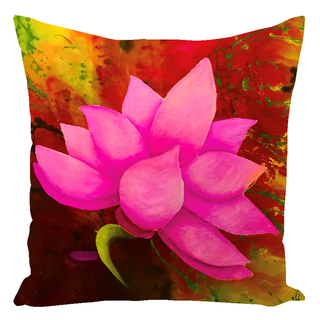 Lotus Throw Pillow Perfect for watching Game of Thrones!