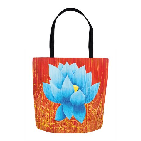 Acrylic Diva | Blue Lotus Tote Bag