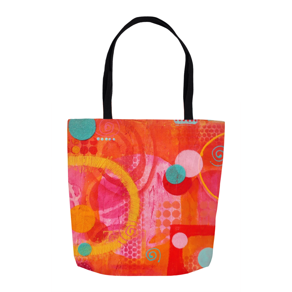 Calliope Orange Tote Bag From a Carnival Theme