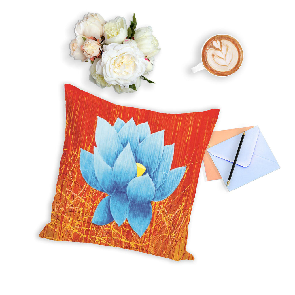 Blue Lotus  Pillow Perfect For Movie Marathons