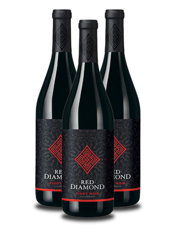 3 Botellas de Red Diamond Pinot Noir 2012