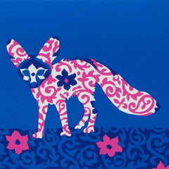 Limited Edition Print Signed Reduction Linocut Fennec Fox V
