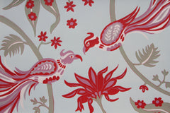 Limited Edition Print Signed Reduction Linocut Birds Jungle Flowers X