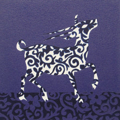 Limited Edition Print Signed Reduction Linocut Antelope III