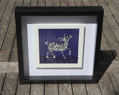 Limited Edition Print Signed Reduction Linocut Antelope III framed
