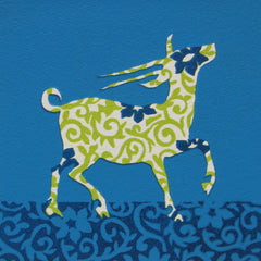Limited Edition Print Signed Reduction Linocut Antelope VIII