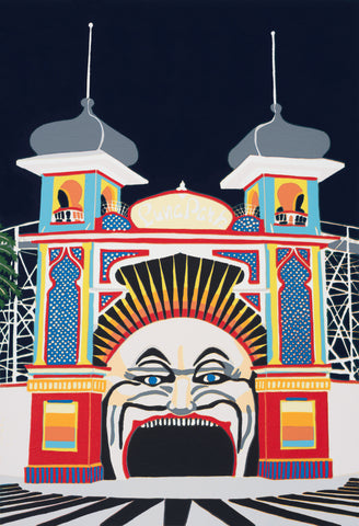 Mr Moon - Luna Park Melbourne I (A4 fine art print)