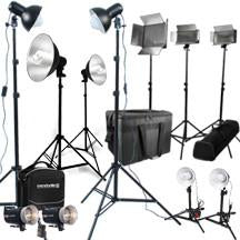 Portable and Fixed Studio Lighting Kits