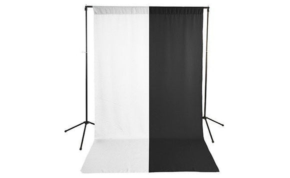 Premium White & Black Backdrop with Stand ( 2 Backdrop Kit)