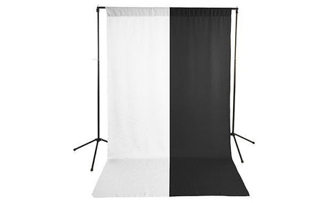 Premium White & Black Polyester Economy Background Kit