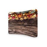 Christmas Decoration On Wooden CURVED TENSION FABRIC MEDIA WALL