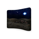 Christmas Bethlehem Night Scene CURVED TENSION FABRIC MEDIA WALL