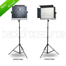 2 Head 2000W Bicolour LED Professional Photography Portable Studio and Video Dimmable Dual Tone Light Panel