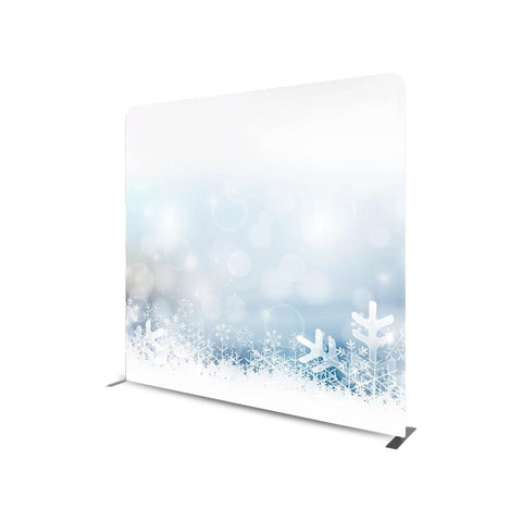 WINTER THEMED STRAIGHT TENSION FABRIC MEDIA WALL