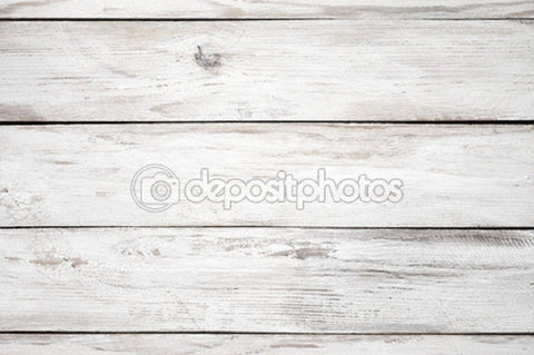 White Distressed Wood Print Photography Backdrop