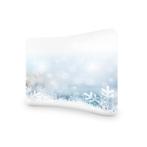 Winter Christmas CURVED TENSION FABRIC MEDIA WALL