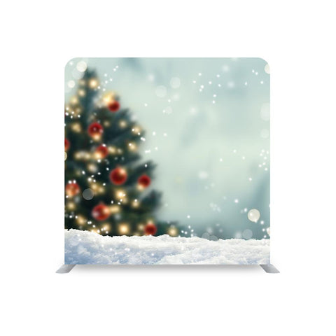 CHRISTMAS TREE STRAIGHT TENSION FABRIC MEDIA WALL