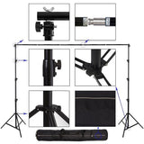 3m x 4.5m White Photography Muslin Backdrop and Support System Stand