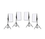 4 Head Continuous Economy Softbox Studio Daylighting Kit Equipment