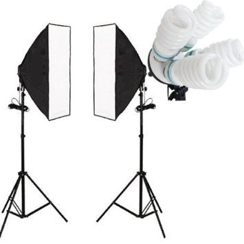 2 Head Economy Softbox 50 cm x 70 cm with 4 Bulb Holder