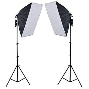 2 Head Continuous Economy Softbox Studio Day Light Equipment Kit