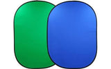 Reversible Chromakey Green And Blue Popup Backdrop 1.5m x 2.1m
