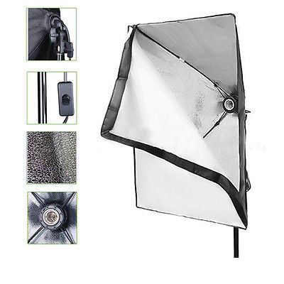 Studio Softbox with Light E27 Socket 50cm X 70cm Equipment