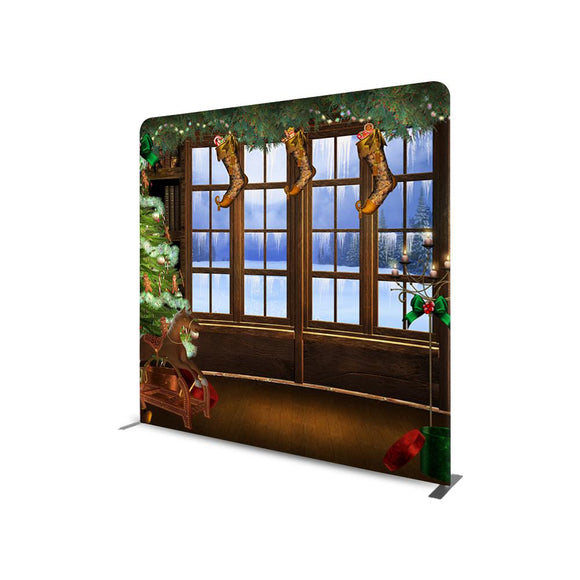Snowy Out view STRAIGHT TENSION FABRIC MEDIA WALL