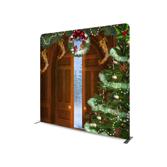 Door Step Christmas Photography  STRAIGHT TENSION FABRIC MEDIA WALL