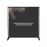 FABRIC BACKDROP MEDIA WALL WITH ADJUSTABLE STAND
