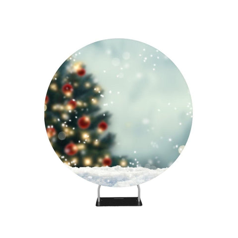 Blurred Christmas Tree Circle Backdrop Stand