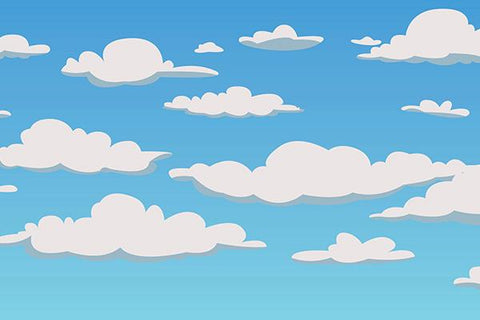 Cloud Sky Cartoon Backdrop